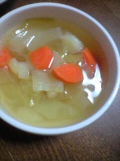 今朝はスープから